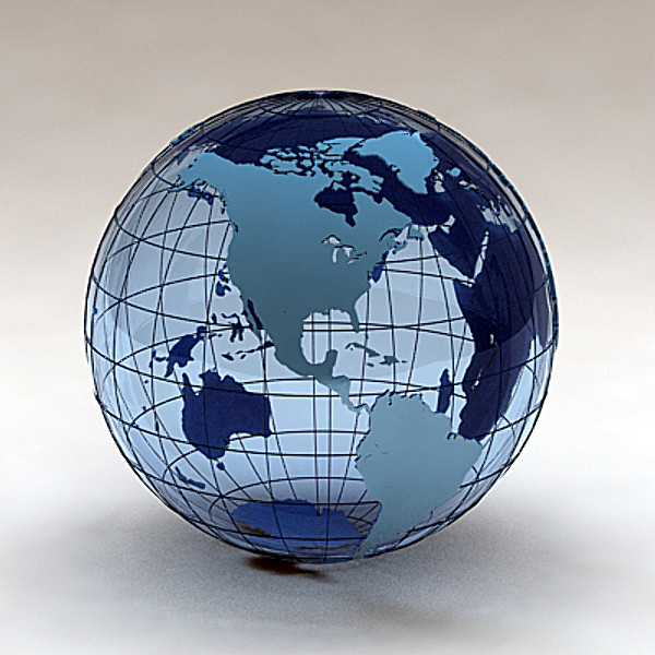 3d geopolitical earth countries continents model - Geopolitical Earth Globe (Countries and continents)... by twopixels