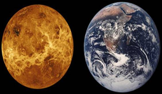 Comparison of Venus and Earth